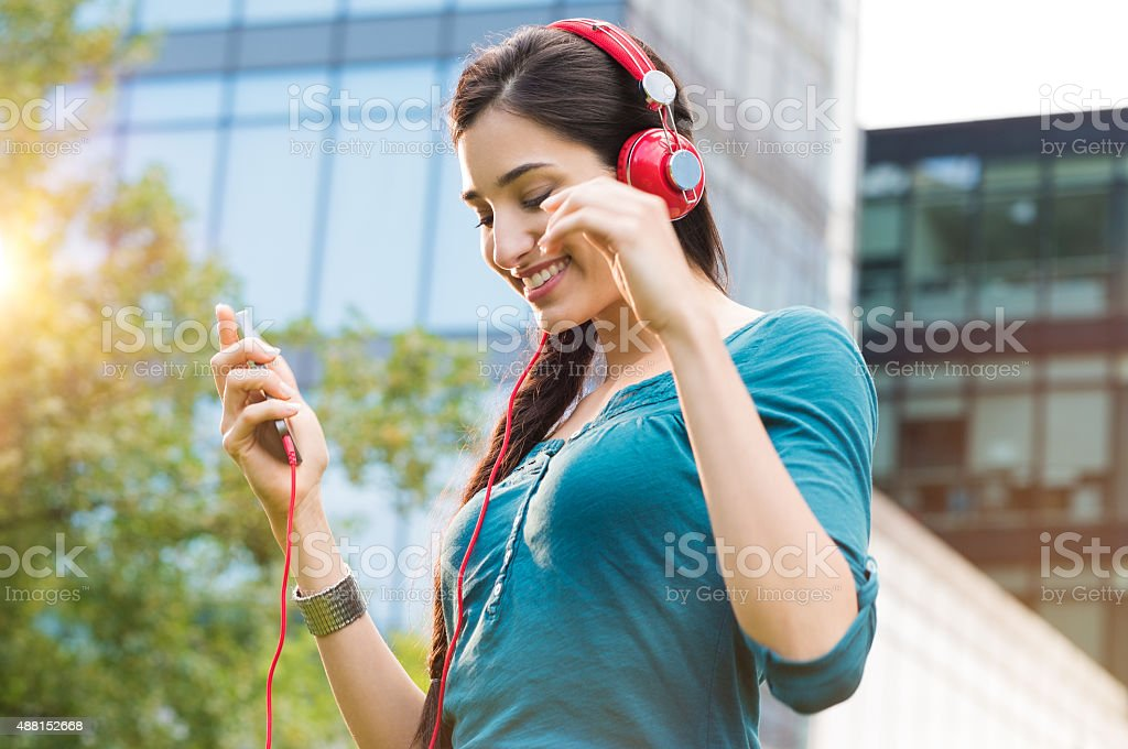 Feeling the music stock photo