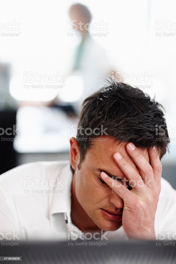 Feeling the pressures of work royalty-free stock photo