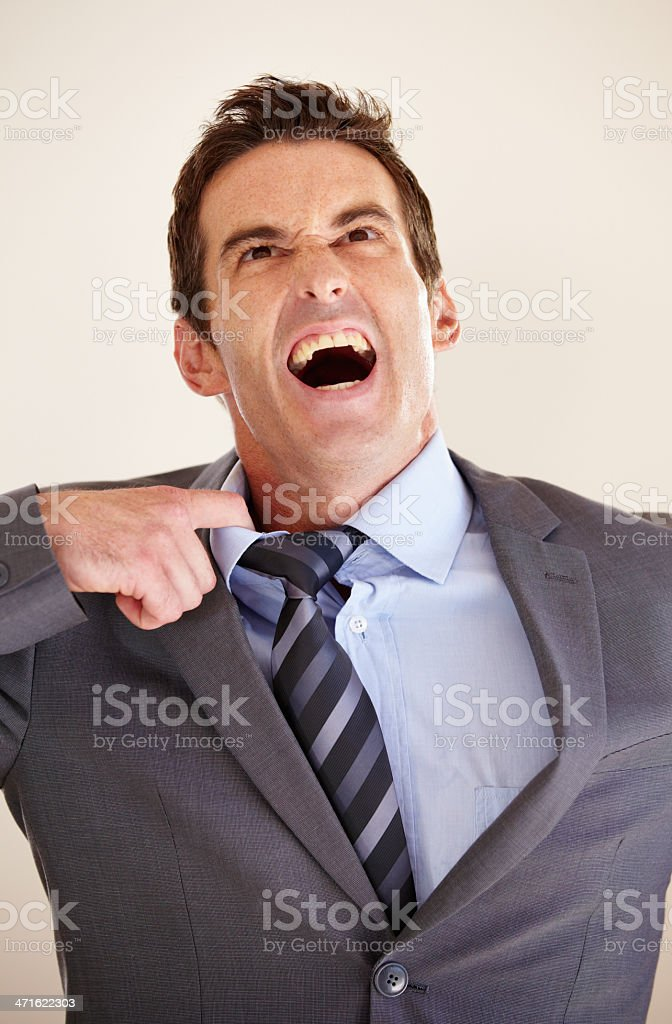 Feeling the strain of business royalty-free stock photo