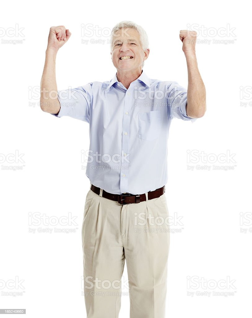 Feeling the thrill of victory royalty-free stock photo