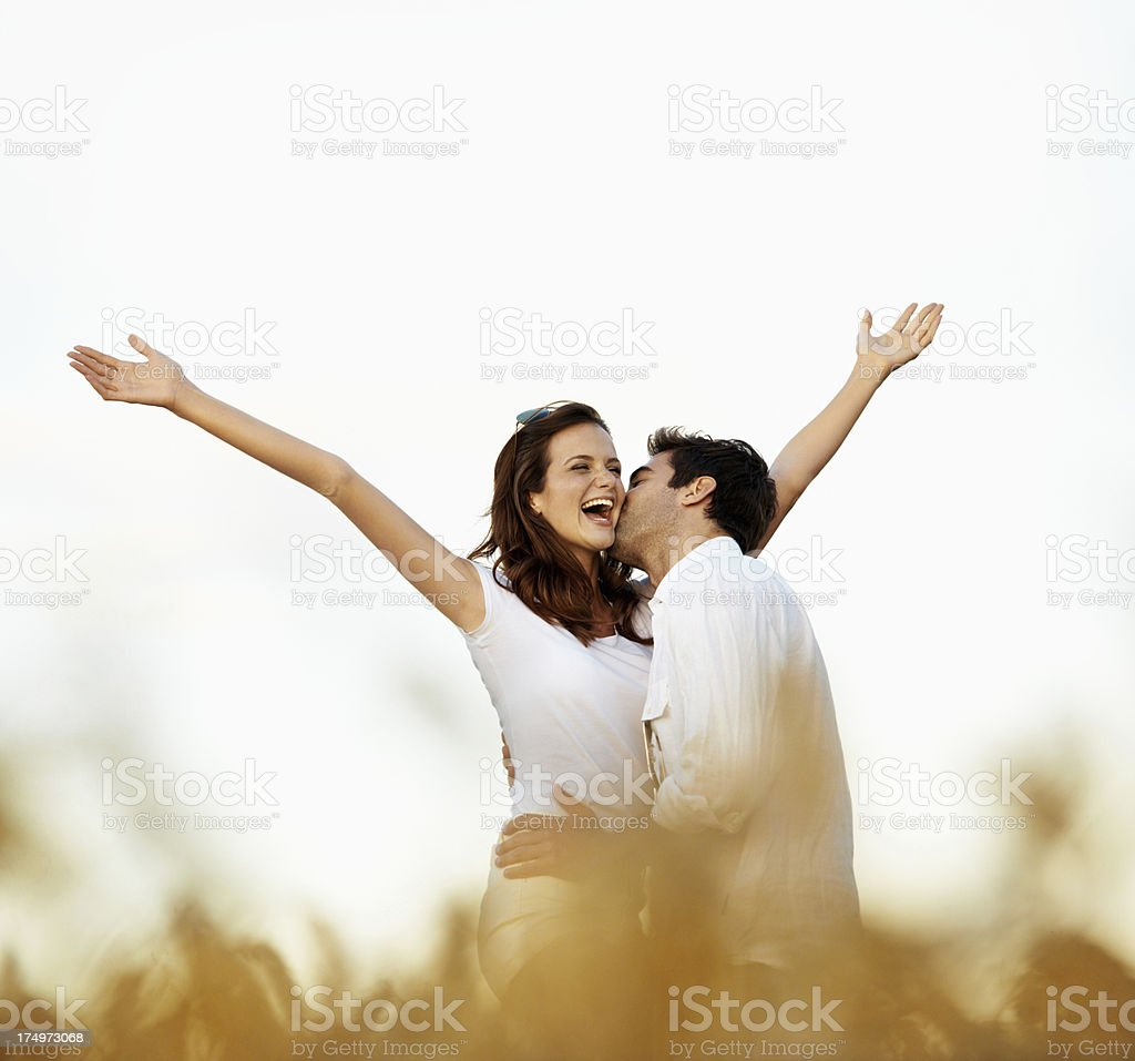 Feeling the thrill of young love royalty-free stock photo