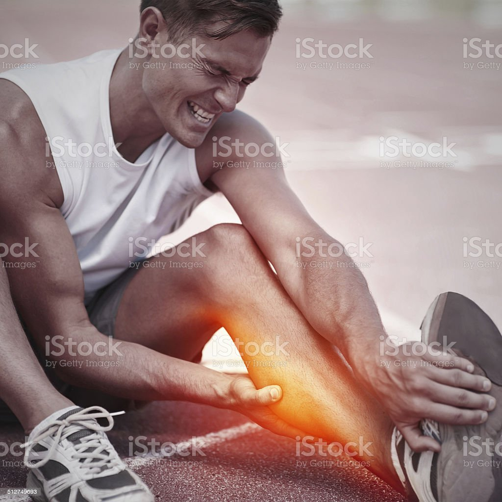 Feeling too much of the burn stock photo