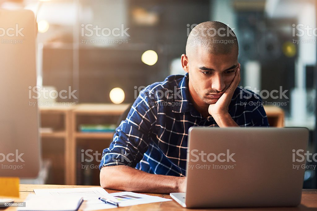 Feeling trapped in a life of monotony stock photo