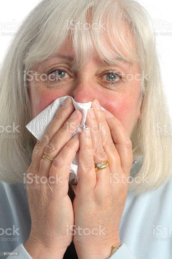 Feeling unwell. stock photo
