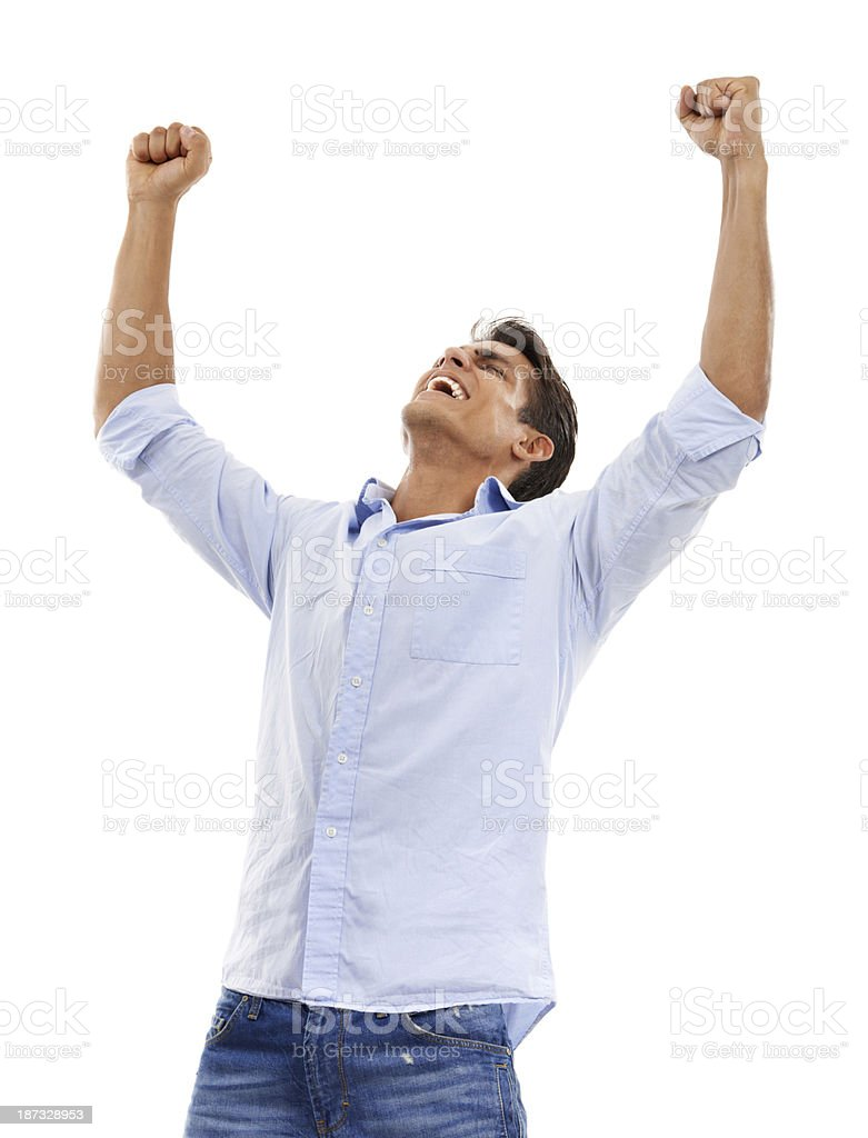 Feeling victorious royalty-free stock photo
