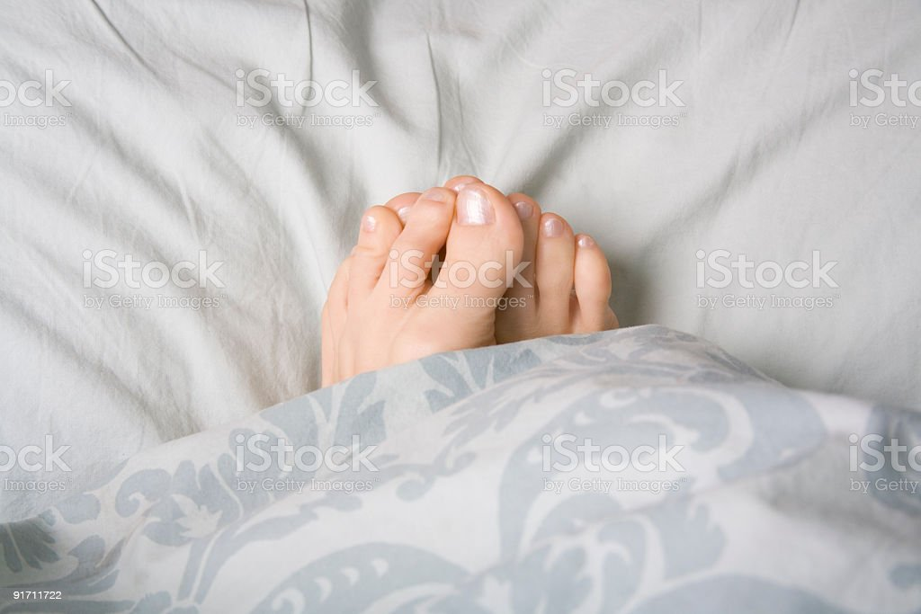 Feet chilly stock photo