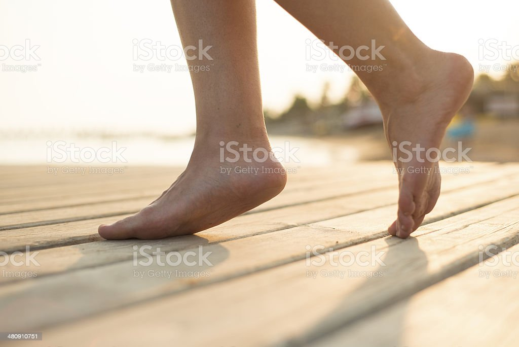 Feet detail stock photo