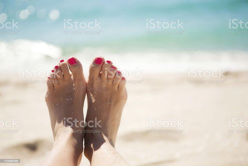 Feet girl stock photo