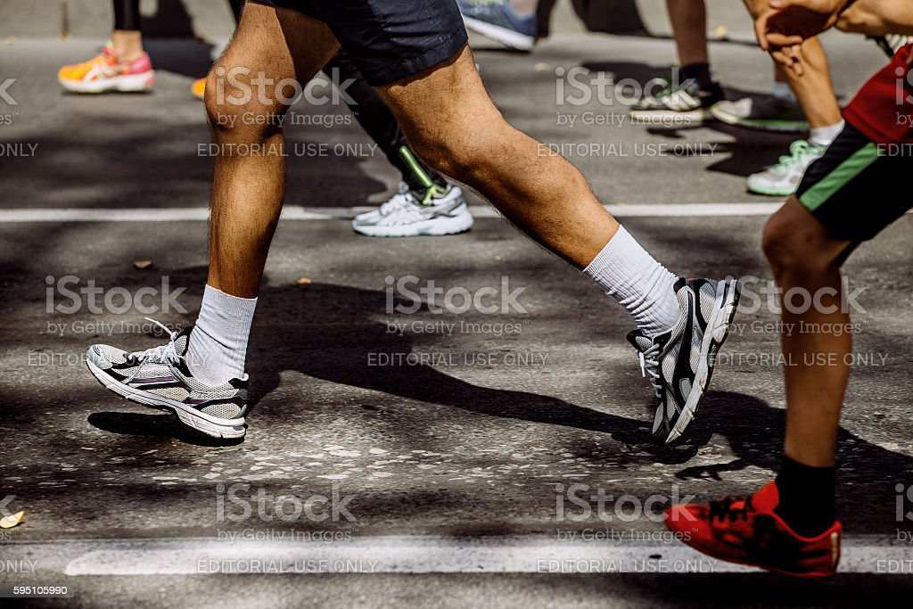 feet group of athletes running royalty-free 스톡 사진
