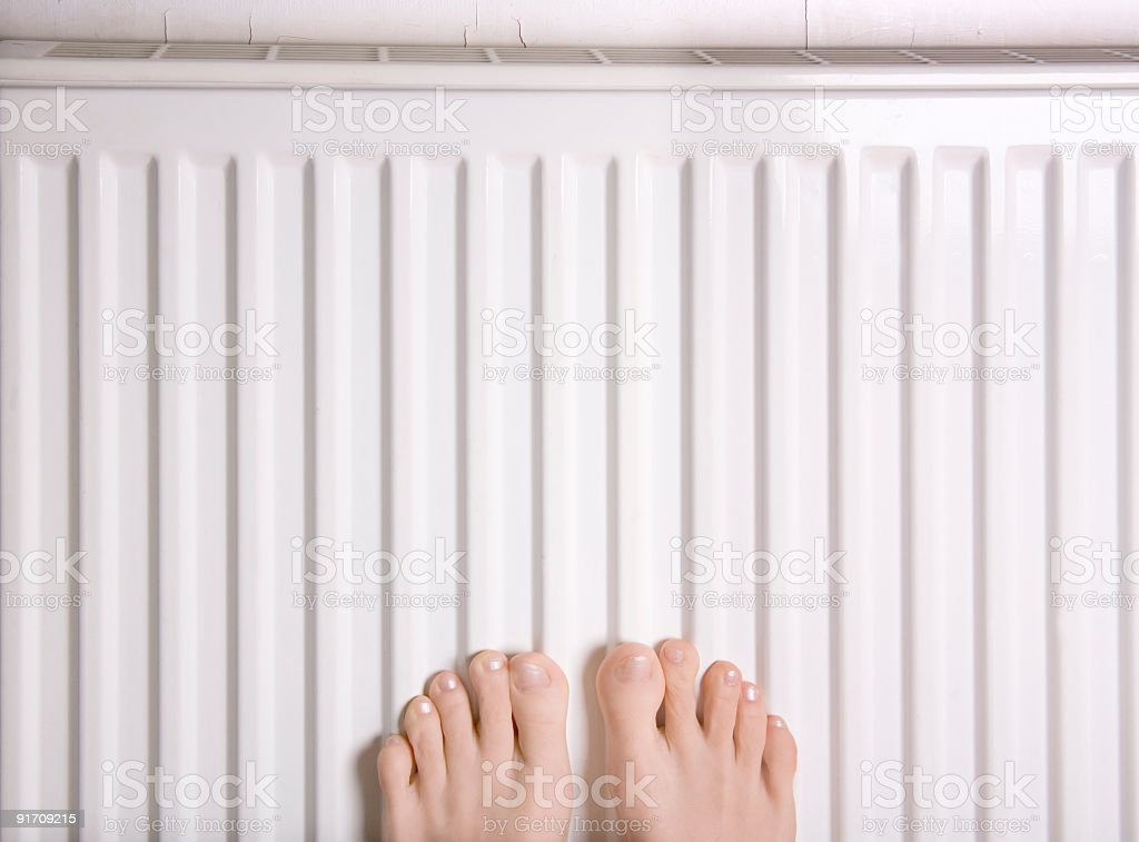 Feet heat stock photo