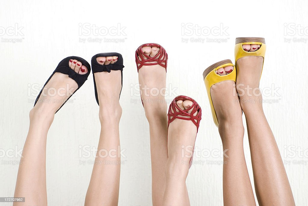 Feet in a trendy shoes stock photo