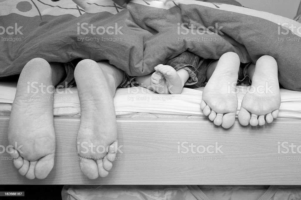 Feet in black and white stock photo