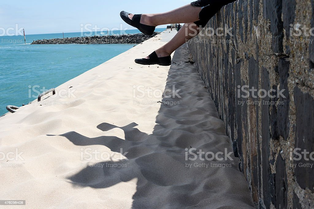 Feet in the air royalty-free stock photo