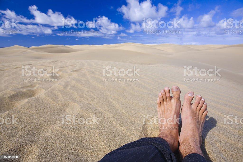Feet In the Desert royalty-free stock photo