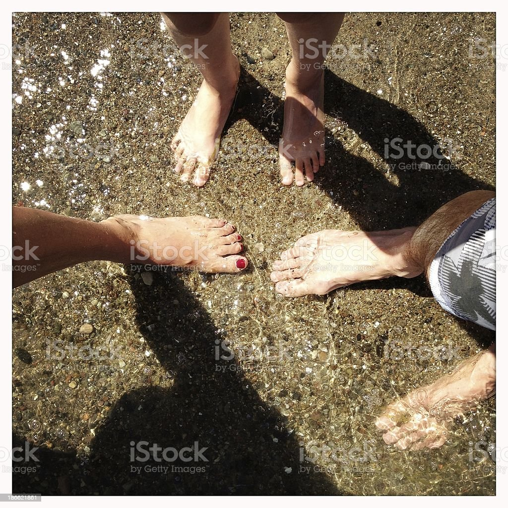 Feet in the water royalty-free stock photo