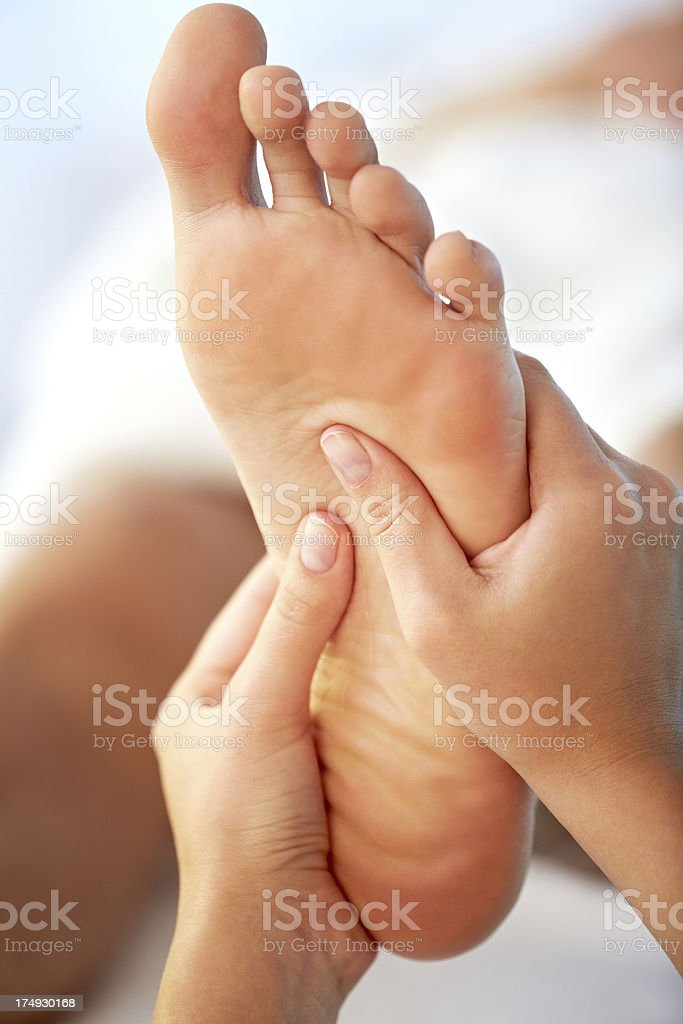 Feet massage stock photo
