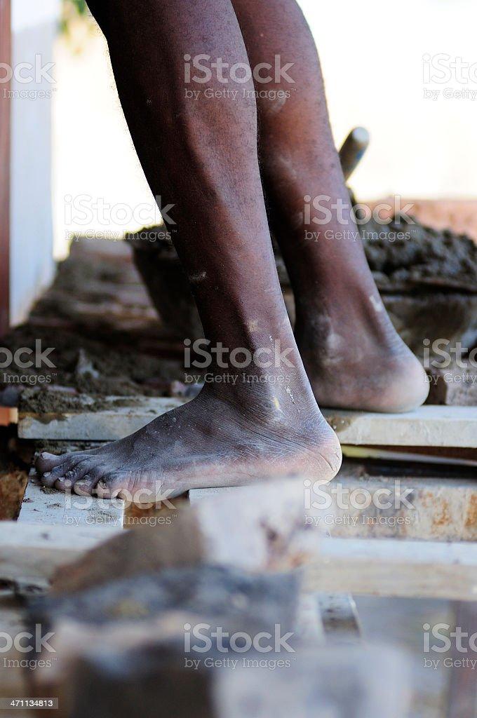 Feet of Poverty stock photo