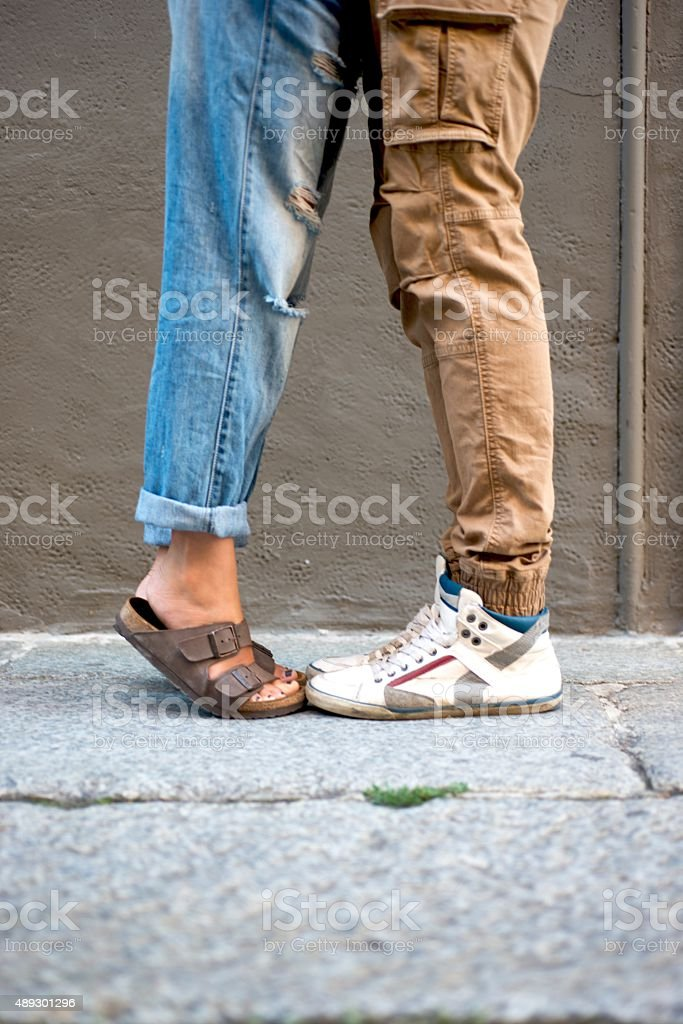 Feet of Young Couple stock photo