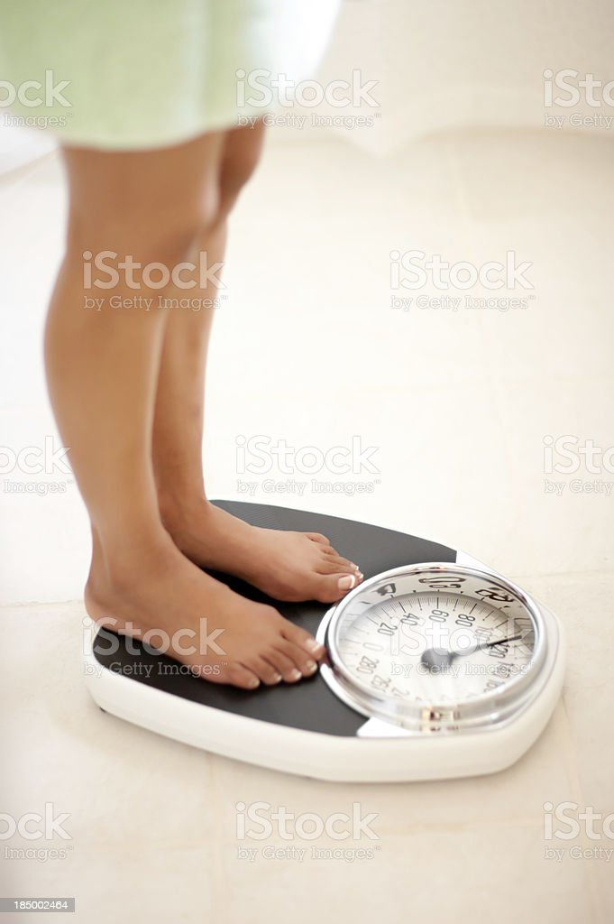 Feet on Bathscale royalty-free stock photo