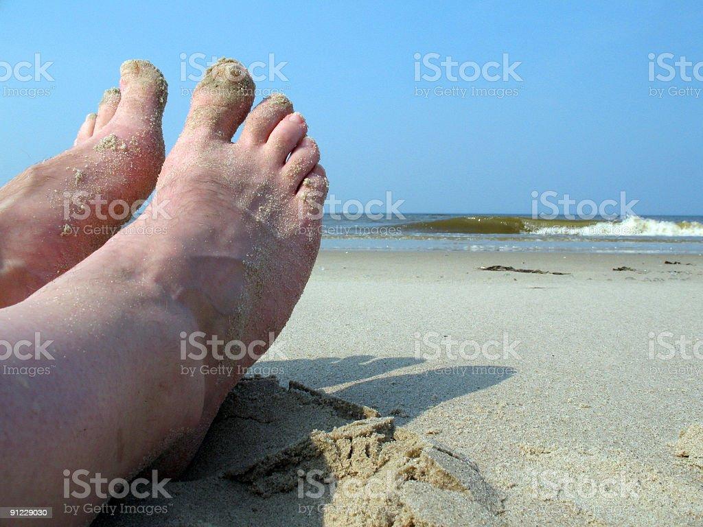 足のビーチ ロイヤリティフリーストックフォト