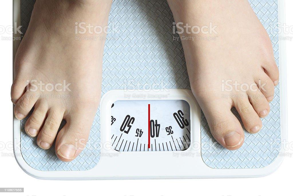 Feet On Scale stock photo