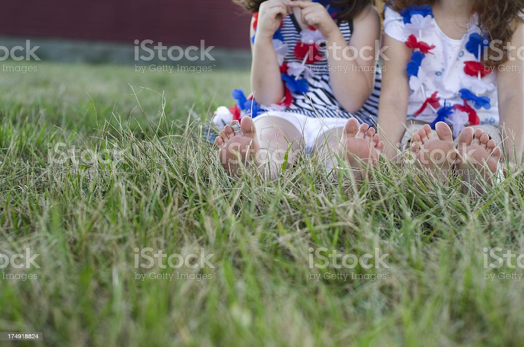 Feet on the 4th royalty-free stock photo