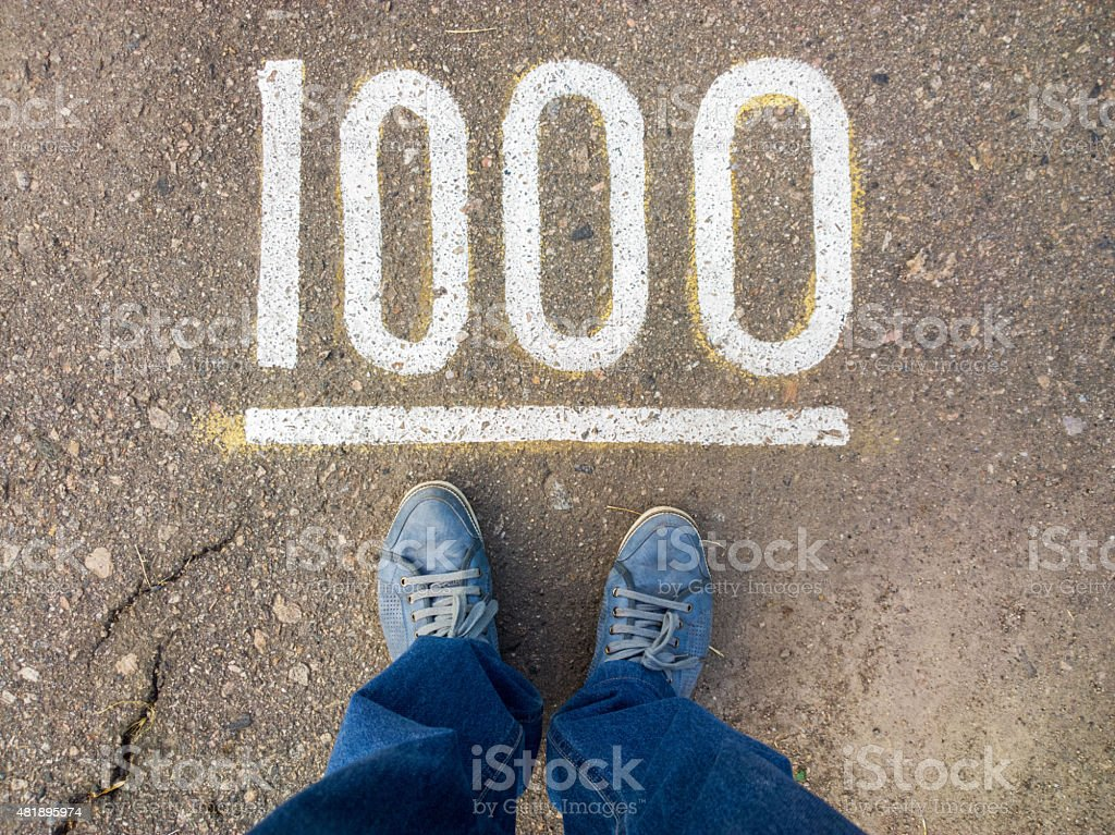 Feet on the pavement. stock photo