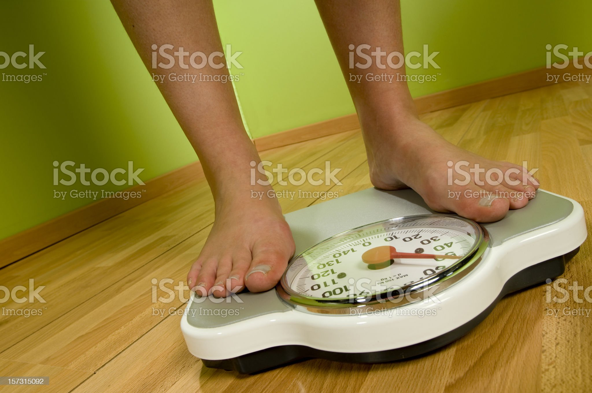 feet on weight scale royalty-free stock photo