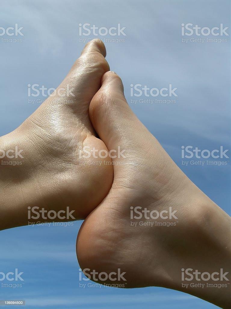 Feet royalty-free stock photo