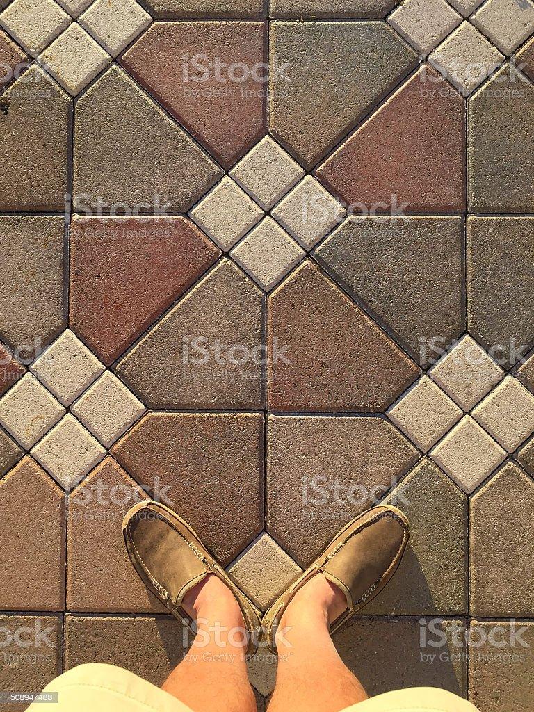 Feet Selfie stock photo
