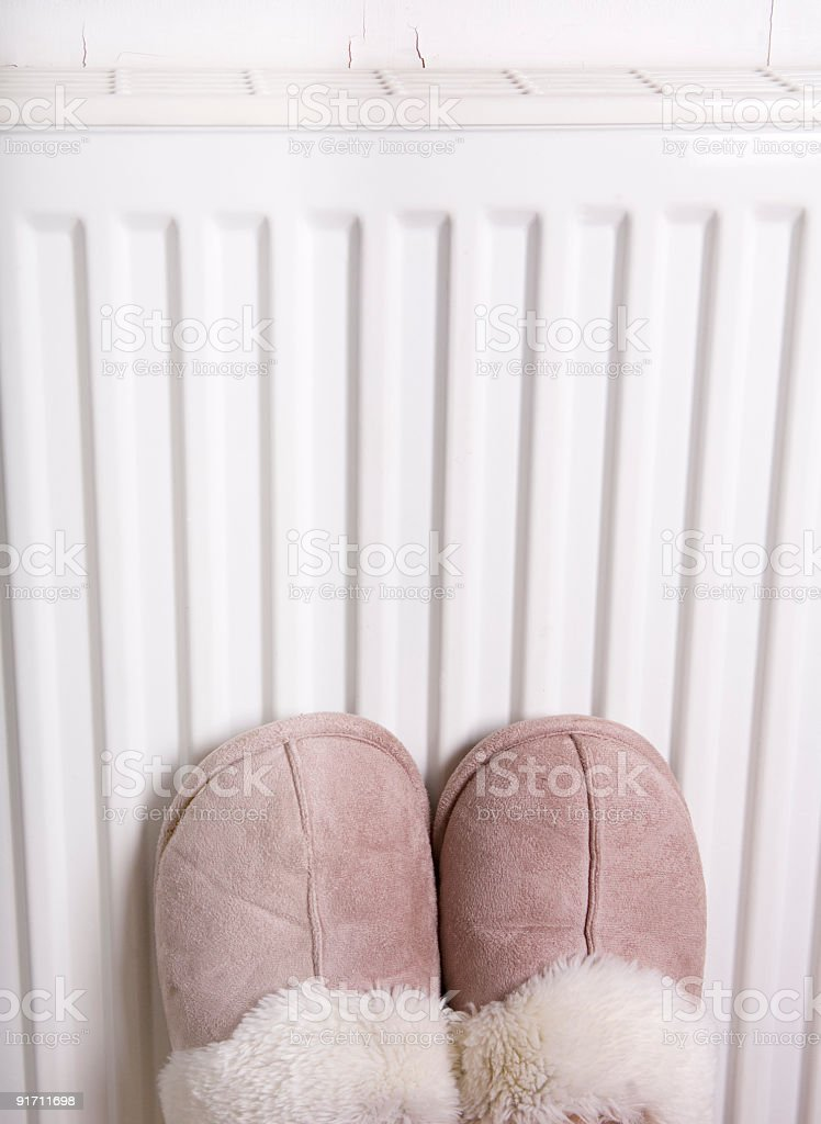 Feet slipper warmth stock photo