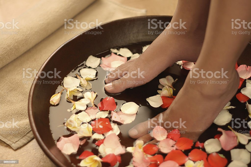 Feet spa treatment stock photo