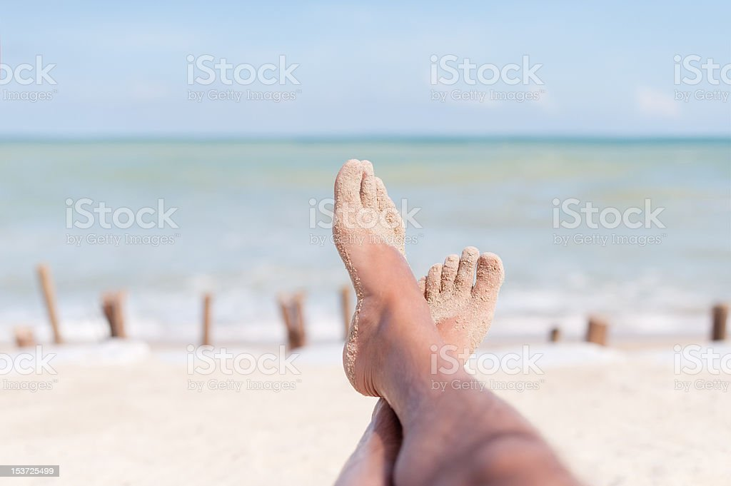 Feet Up in Paradise royalty-free stock photo