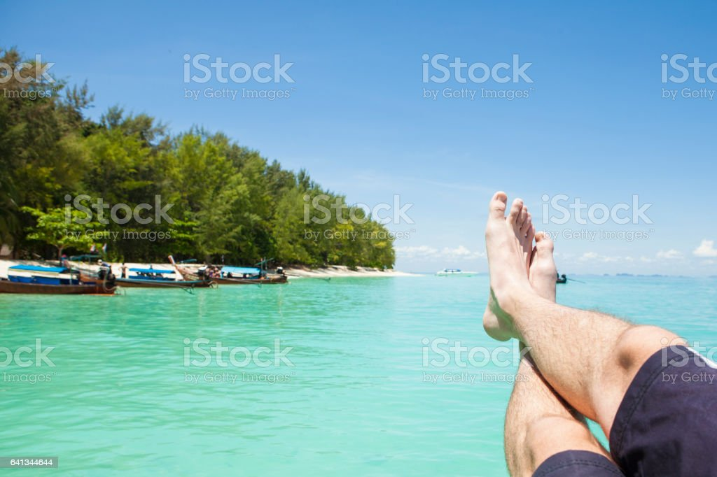 Feet up in Paradise stock photo