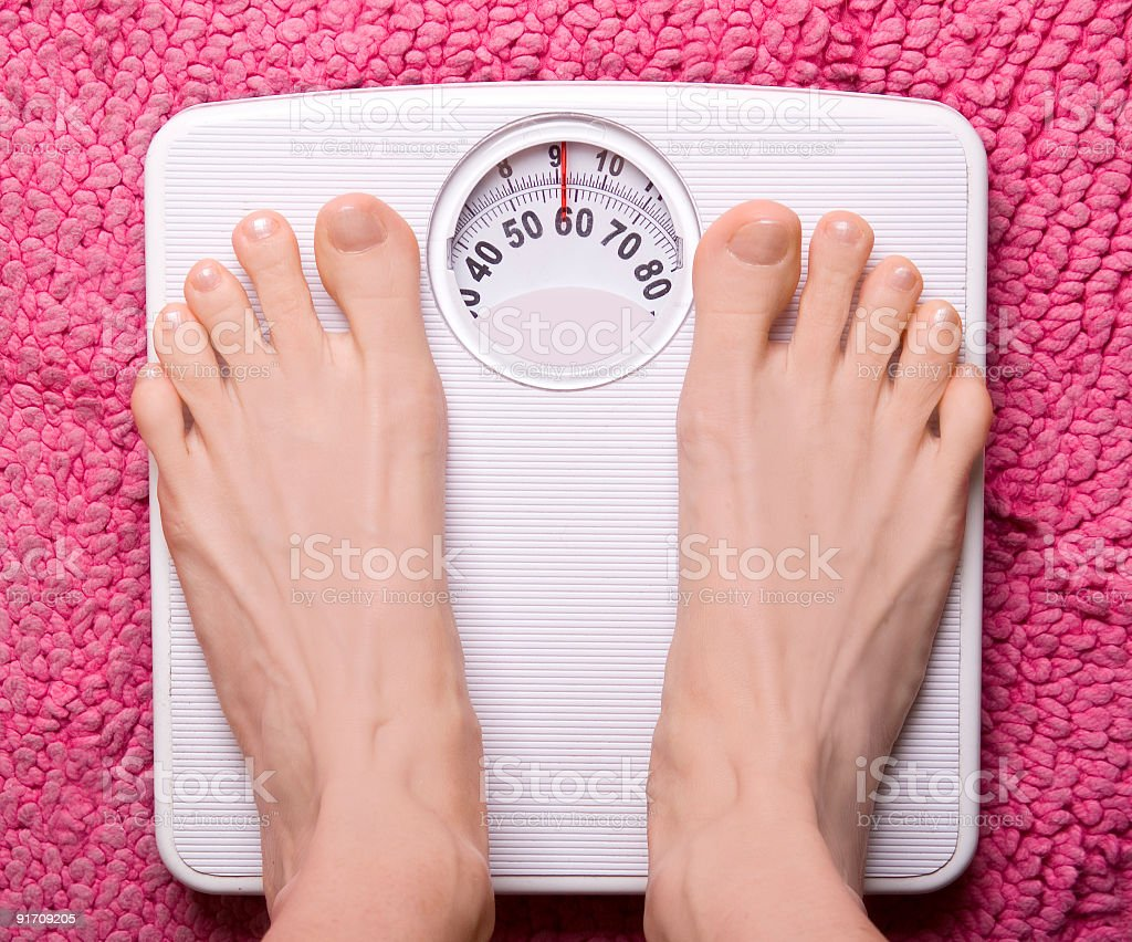 Feet weight stock photo