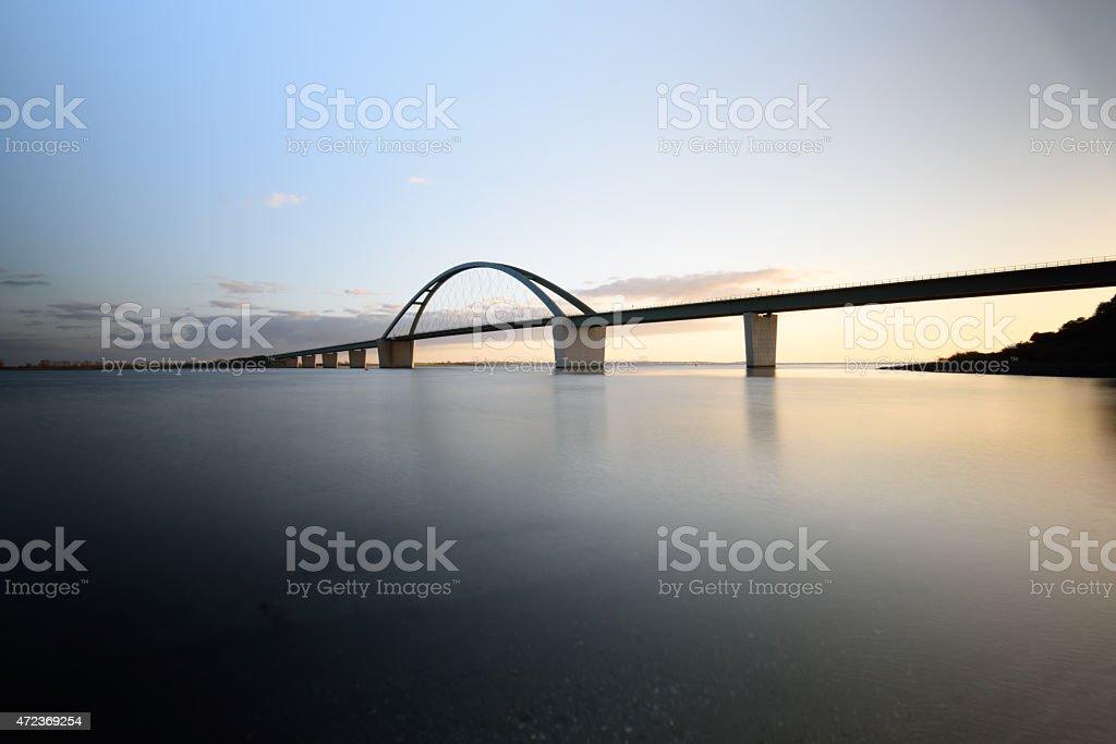 Fehmarnsundbrücke foto royalty-free