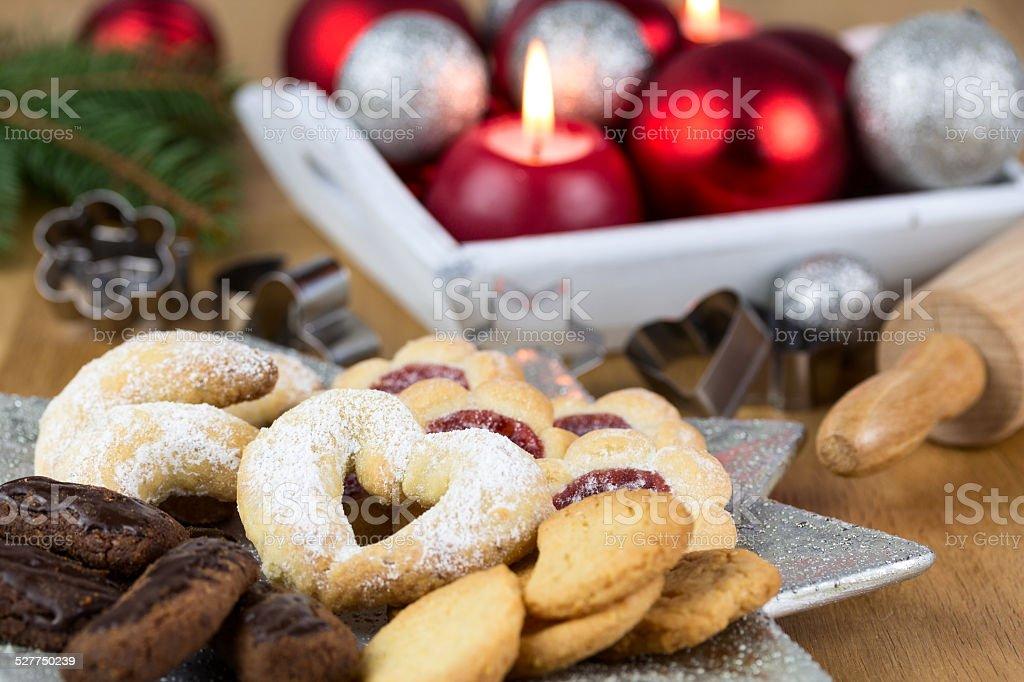 feines Weihnachtsgebäck stock photo