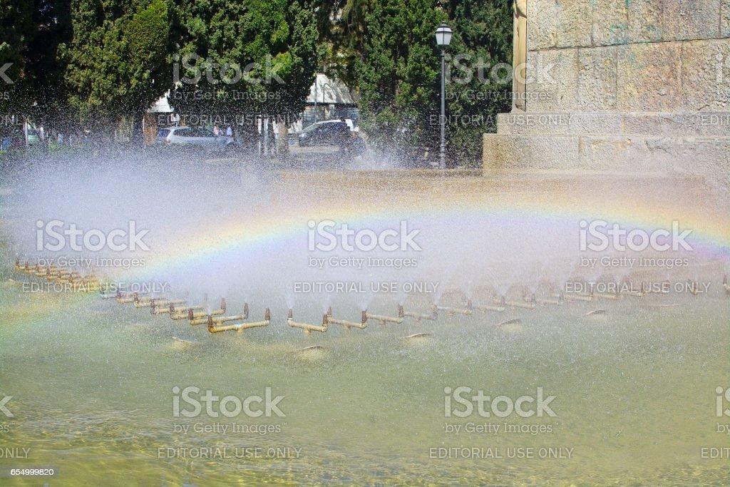 Feixina park fountain stock photo