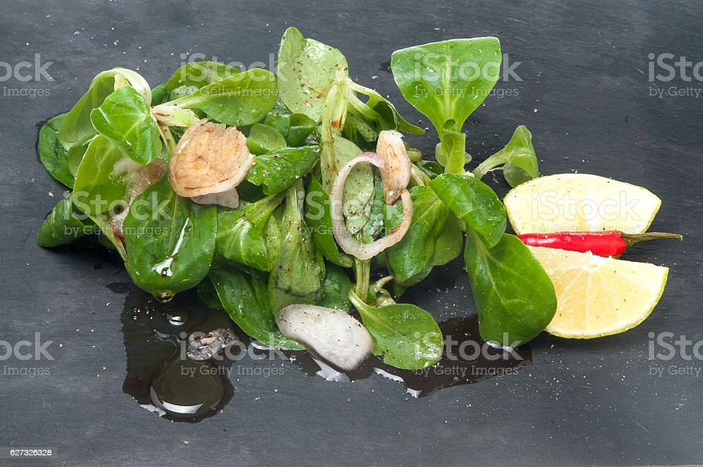 Feldsalat delikat stock photo