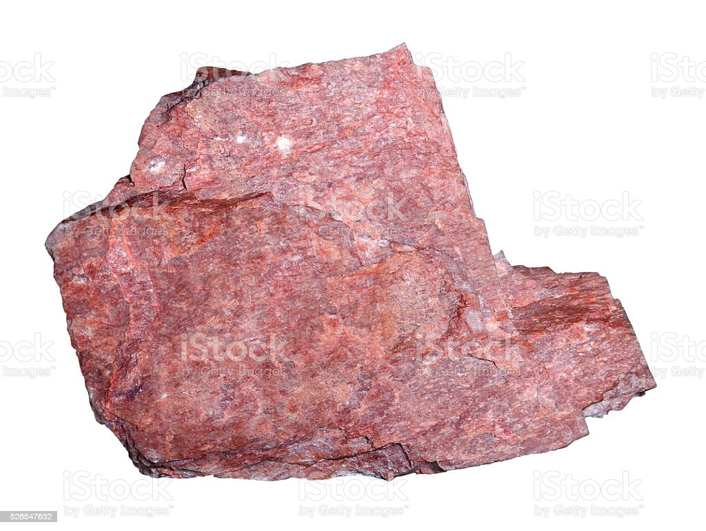 Feldspar mineral isolated on white background. stock photo