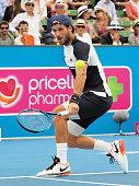 Feliciano Lopez of Spain slice backhand