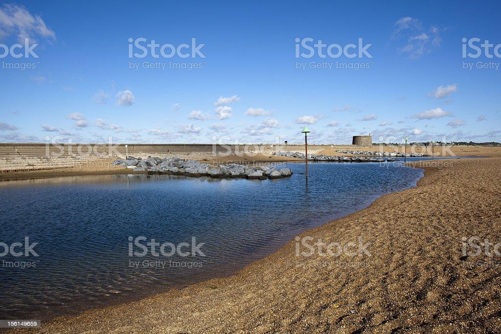 Felixstowe Beach, Suffolk, England stock photo