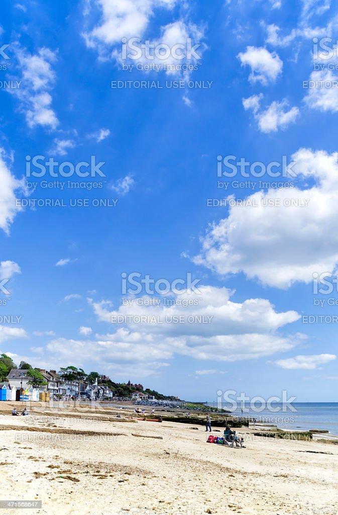 Felixstowe beach, Suffolk stock photo