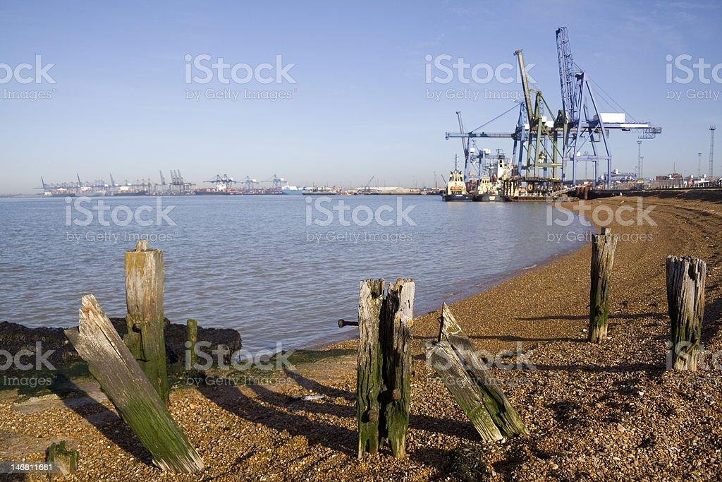 Felixstowe Docks stock photo