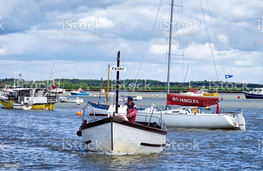 Felixstowe ferry boat approaching stock photo