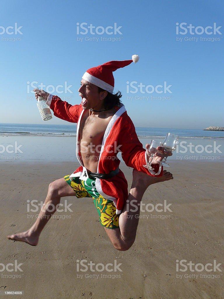 Feliz Navidad at the beach royalty-free stock photo