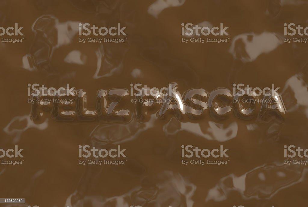 Feliz Páscoa (Text serie) royalty-free stock photo
