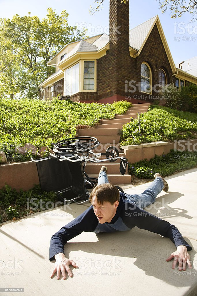 Fell Down The Stairs Again royalty-free stock photo
