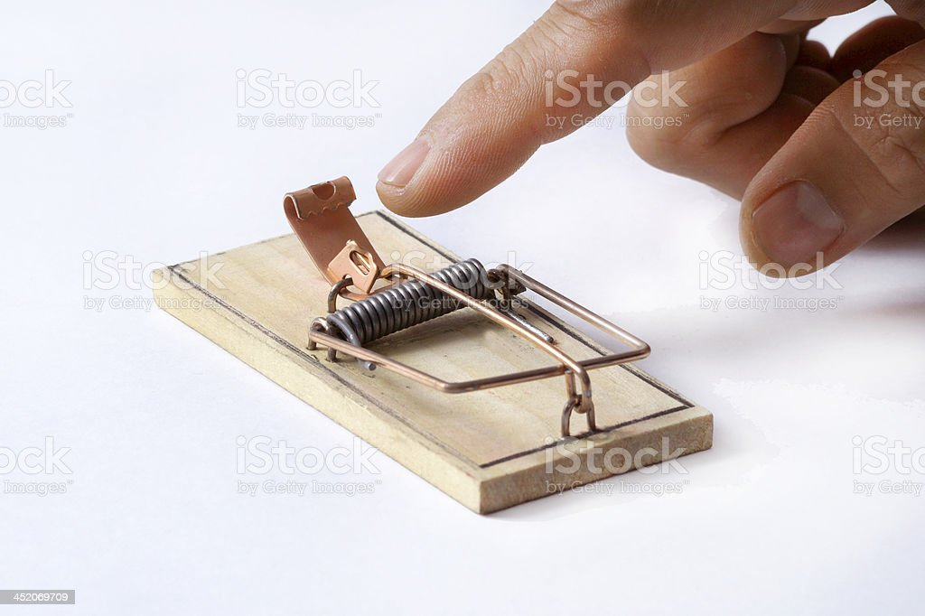 I fell into the trap stock photo