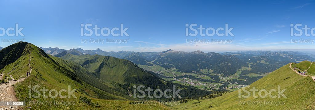 Fellhorn-View - Hochifen and Gottesacker, Kleinwalsertal stock photo